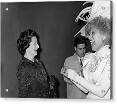 Lady Bird Johnson, Visiting Carol Acrylic Print by Everett