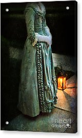 Lady By Lantern Light Acrylic Print by Jill Battaglia