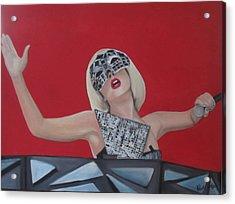 Lady Gaga Poker Face Acrylic Print by Kristin Wetzel