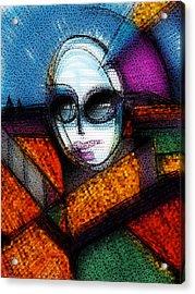 Lady Gaga Acrylic Print by Russell Pierce