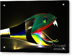 Lady Gaga Snake II Acrylic Print by Chuck Kuhn