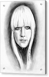 Lady Gaga Acrylic Print by Wendy Marelli