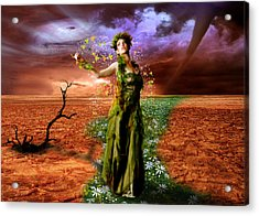 Lady Gaia Acrylic Print by Julie L Hoddinott