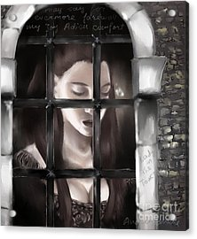 Lady In The Tower Acrylic Print