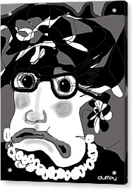 Lady Millicent Was Not To Be Outdone In The Crazy Hat Department Acrylic Print