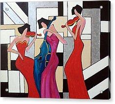 Lady Musicians Acrylic Print
