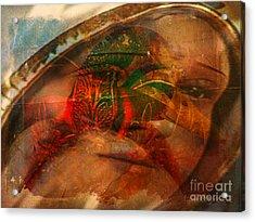Lady Of Faith Acrylic Print by Fania Simon