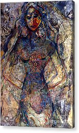 Lady Of Los Lunas Acrylic Print by Charles B Mitchell