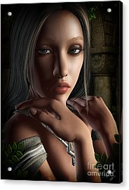 Lady Of Shalot Acrylic Print by Georgina Hannay