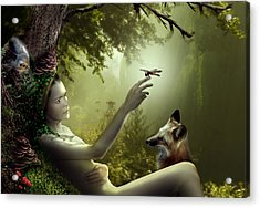 Lady Of The Forest Acrylic Print by Julie L Hoddinott