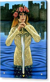 Acrylic Print featuring the painting Lady Of The Lake by Sue Halstenberg