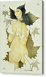 Lady Of The Leaf 4 Acrylic Print