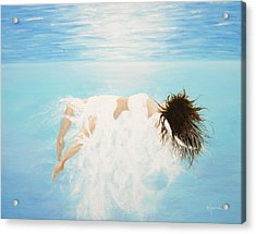 Lady Of The Water Acrylic Print by Kume Bryant