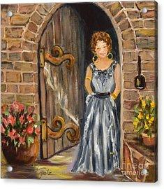 Lady Waiting Acrylic Print
