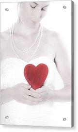 Lady With A Heart Acrylic Print by Joana Kruse