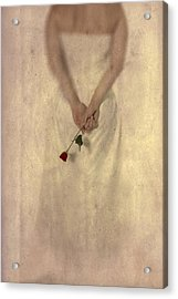 Lady With A Rose Acrylic Print by Joana Kruse