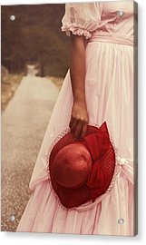 Lady With Hat Acrylic Print by Joana Kruse