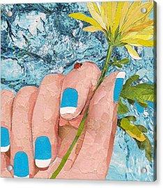 Ladybug Acrylic Print by Robin Birrell