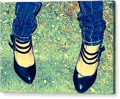 Lady's Feet-vintage Acrylic Print by Ester  Rogers