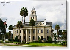 Lafayette County Courthouse Acrylic Print by Barbara Bowen