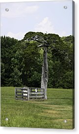 Lafayette Meeks Cemetery Appomattox Virginia Acrylic Print by Teresa Mucha