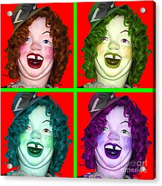 Laffing Sal - 7d14359 - Square Acrylic Print by Wingsdomain Art and Photography