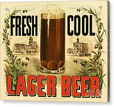 Lager Beer Acrylic Print by Pg Reproductions