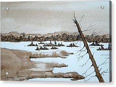Lagoon On Madeline Island Acrylic Print