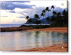 Lagoon Sunset Acrylic Print by Naomi Hayes