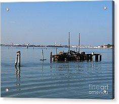 Lagoon. Venice Acrylic Print by Bernard Jaubert