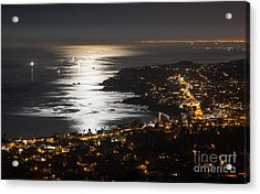 Laguna Beach Moonlight Acrylic Print by Sonny Marcyan