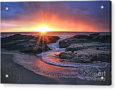 Laguna Beach Sunset Acrylic Print by Elena Northroup
