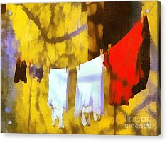 Laid Out To Dry Acrylic Print by Odon Czintos