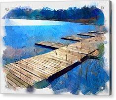 Lake 3 Acrylic Print by Yury Malkov