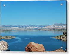 Acrylic Print featuring the photograph Lake Abiquiu by William Wyckoff