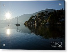 Lake And Sunlight Acrylic Print by Mats Silvan