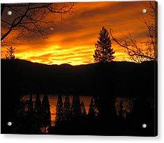 Lake Arrowhead Sunrise Acrylic Print by Diana Poe