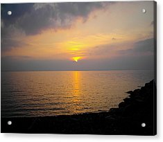Lake At Sunset Acrylic Print by Christoffer Saar