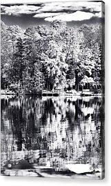 Lake Drama Acrylic Print by John Rizzuto