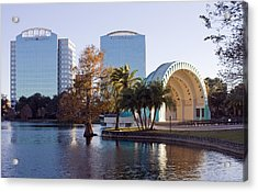 Acrylic Print featuring the photograph Lake Eola's  Classical Revival Amphitheater by Lynn Palmer