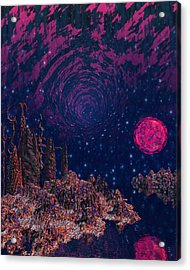 Lake Hali Acrylic Print by Diana Morningstar