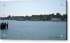 Lake Huron Shoreline And Harbor - Michigan Acrylic Print