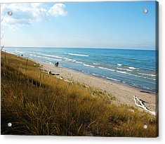 Acrylic Print featuring the mixed media Lake Huron Shoreline by Bruce Ritchie
