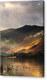 Lake In Cumbria, England Acrylic Print by John Short