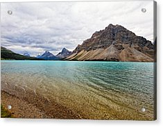 Lake In The Canadian Rockies Acrylic Print by George Oze
