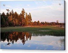 Lake Lila Sunset Acrylic Print