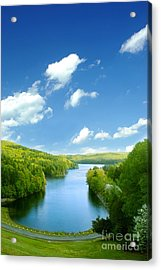 Lake Macdonough Acrylic Print by HD Connelly
