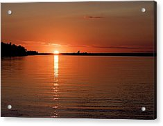 Acrylic Print featuring the photograph Lake Manitoba Sunset by Scott Holmes