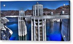 Lake Mead Hoover Dam Acrylic Print by Jonathan Davison