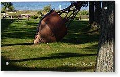 Lake Mi Park - Mackinaw City M Collectionsi   Acrylic Print